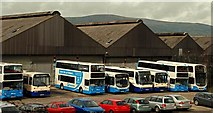 J3373 : Gt Victoria Street bus depot, Belfast by Albert Bridge