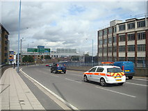 TQ3882 : Blackwall Tunnel Northern Approach by Stacey Harris