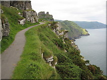 SS7049 : Coast approaching the Valley of the Rocks by Philip Halling