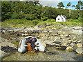 NR7476 : Zodiac in front of Kennels Cottage. by David Woollard