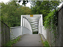 TQ2853 : Footbridge on the path to St Katharine's by Stephen Craven