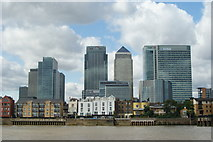 TQ3880 : Blackwall Waterfront From the River Thames by Peter Trimming