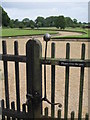 NZ0878 : Belsay Hall - gate opening mechanism by Mike Quinn