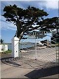SX6443 : Gates to Burgh Island Hotel by Derek Harper
