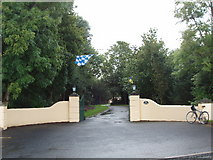 S5610 : Gate near Butlerstown, with Waterford colours flying by David Hawgood