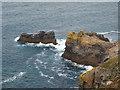 SW6951 : Rocks below St Agnes Head by Rod Allday