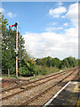TG3910 : Acle railway station - signal on the Gt Yarmouth line by Evelyn Simak