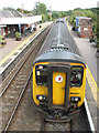 TG3909 : Acle railway station - Norwich-bound 156407 by Evelyn Simak