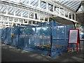 NZ2642 : Installing new ticket barriers, Platform 2, Durham station by hayley green