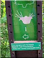 NZ4239 : Footpath sign with useful safety information by Roger Smith