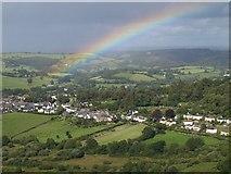 SX7087 : Rainbow over Chagford by Derek Harper