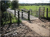 NS3977 : Cattle grid, National Cycle Route 7 by Richard Webb