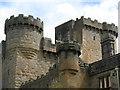 NZ0878 : Belsay Castle - battlements by Mike Quinn