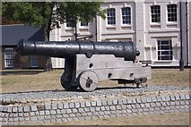 TQ7568 : Cannon on Chatham River Front by David Anstiss
