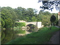 NU2406 : The old bridge at Warkworth over the river Coquet by Dr Duncan Pepper