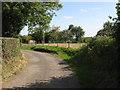SO6860 : Farm Entrance Near Harpley by Peter Whatley