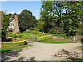SO6960 : Cottage Garden, Lower Sapey by Peter Whatley