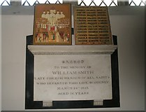 SU6400 : Memorial on the west wall at All Saints, Portsea by Basher Eyre