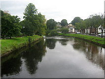 NY6820 : River Eden in Appleby by Chris Heaton