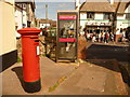 SY3391 : Lyme Regis: postbox № DT7 31 and phone, Ozone Terrace by Chris Downer