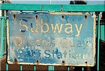 J3474 : Queen's Quay station sign, Belfast by Albert Bridge