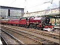 NY4055 : Steam locomotive Leander in Carlisle Station by Rose and Trev Clough