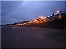 TA1280 : Filey promenade at dusk by phillip andrew carl taylor
