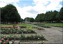 SJ3384 : The War Memorial at Port Sunlight, from Queen Mary's Drive by Gerald Massey
