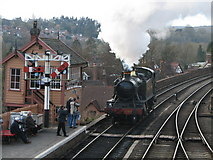 SO7975 : Bewdley Station Signal Box by K  A