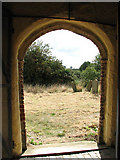 TM3898 : St Gregory's Church - view through south porch doorway by Evelyn Simak
