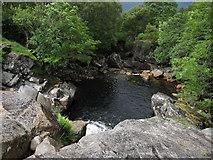 NN0633 : Plunge pool, River Noe by Hugh Venables