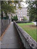 SJ4065 : The city walls towards County Hall by John S Turner