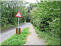 """TL2247 : """"Try your Brakes"""" Road Sign, Sutton Ford by Christine Matthews"""