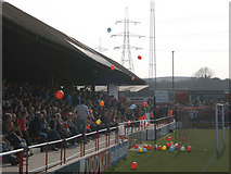 TQ6174 : Stonebridge Road, Ebbsfleet United Football Club by Martin Thirkettle