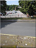 SJ4065 : Rivet bench mark and the Little Roodee by John S Turner