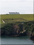 SM8003 : View across Mill Bay towards St Anne's Head Lighthouse by John Lindsay