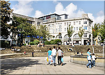 SS6593 : Castle Plaza, Swansea by Pierre Terre