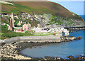 SH4094 : Porth Wen Brick Works and sea arch by Dave Croker