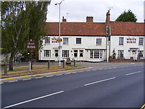 TL7204 : Great Baddow Village Sign & White Horse Public House by Adrian Cable