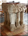 TF6422 : St Mary, South Wootton, Norfolk - Font by John Salmon