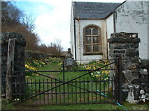NM4339 : St Ewan's Church Ulva by Tim S Addison