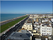 TQ2904 : Sea front view of Hove from top of building in Brighton by malcolm jacks