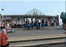 TR3752 : Irish dancers at Deal pier by John Rostron