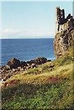 NS2515 : Ruins of Dunure Castle near Ayr by nick macneill