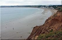 TA1281 : Cliffs above Filey Beach by Peter Church