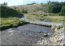 SN8355 : Irish Bridge across the Afon Irfon, Powys by Roger  Kidd