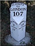 TM3687 : Old Milepost by Keith Evans