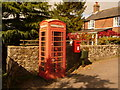 ST8721 : Cann: postbox № SP7 3 and phone, Bozley Hill by Chris Downer
