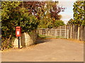 ST8426 : Motcombe: postbox № SP7 6, Elm Hill by Chris Downer