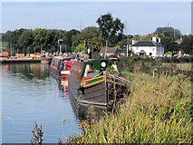 SP9122 : Grand Union Canal - Moorings South of Grove Lock by Chris Reynolds